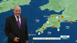 UK Weather Forecast: Sunny again in the South West great for after work drinks