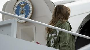 President Trump says wife's 'I don't care' jacket was aimed at media
