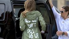 Melania Trump wears 'I don't care' jacket on visit to detained children