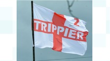 Kieran Trippier: proud dad flies giant tribute outside home