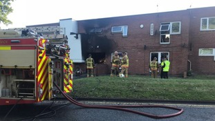Nine escape from fire at block of flats in Gateshead