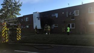 Crews at the scene