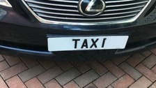 'Taxi' plate among rare registrations to go up for auction