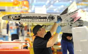 Airbus makes aircraft wings in Broughton, North Wales