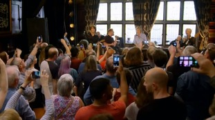 Punters at The Philharmonic pub were shocked to see a duet of James Corden and Paul McCartney.