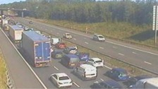 Man dies and driver arrested after M4 crash