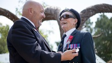 The day the nation came together to find blind veteran's war medals