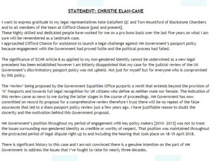 Elan-Cane posted a statement to her website in response to the court ruling.