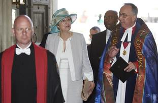 Theresa May and the Dean of Westminster John Hall