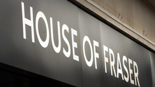 House of Fraser stores in Middlesbrough and Darlington to shut.