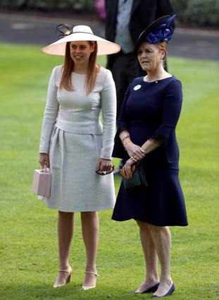 Princess Beatrice and her mother Sarah, Duchess of York at Royal Ascot