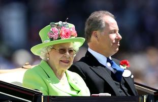 The Queen arrives at Royal Ascot in the traditional carriage procession