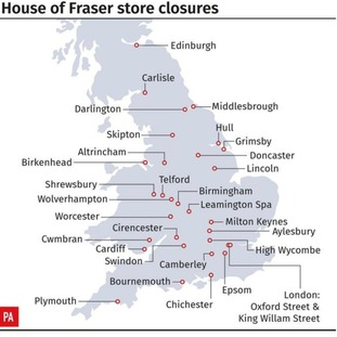 Here is the full list of planned store closures: