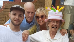 Harrison Scott-Hood (far left) was killed in the early hours of Monday morning.