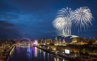 Fireworks above the River Tyne
