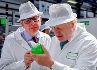 Boris Johnson campaigning with Michael Gove during the Brexit referendum