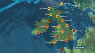 Weather: A fine day with plenty of sunshine