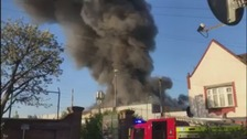 People told to keep windows and doors shut following east London fire
