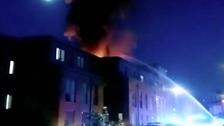 Fire rips through retirement homes