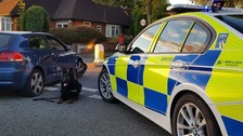 The Audi A3 was stopped by police using a stinger