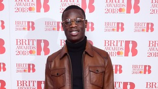 J Hus attending the Brit Awards 2018 Nominations