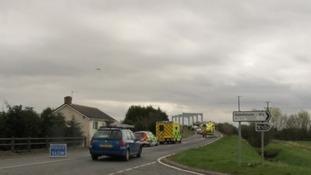 Accident scene on Saturday April 7