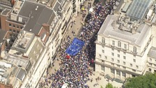 Thousands march through London to demand referendum on terms of Brexit