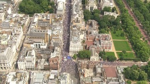Thousands marched through central London calling for a People's Vote.