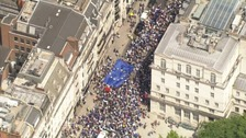 Thousands march through London over Brexit