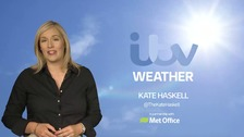 Kate Haskell has the latest weather