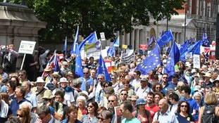 The People's Vote march began at Pall Mall and ended in Parliament Square.