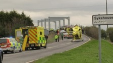 The scene of the crash: three people lost their lives.