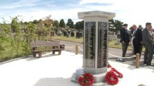 War memorial unveiled to remember fallen armed forces