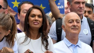 Prominent remainers Gina Miller and actor Sir Tony Robinson addressed the crowds.