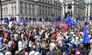 March organisers say 100,000 attended the demo