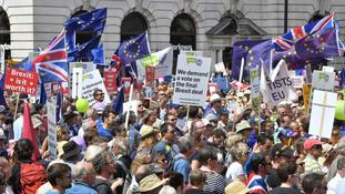 Tens of thousands showed up to demand a vote on the final Brexit deal