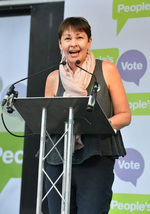 Green Party co-leader Caroline Lucas also opposes Brexit
