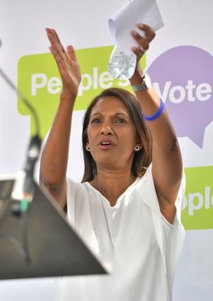 The rally was also attended by Pro-EU campaigner Gina Miller