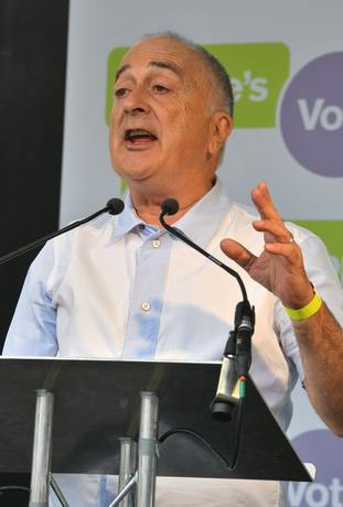 Actor and Labour supporter Tony Robinson addressed the rally