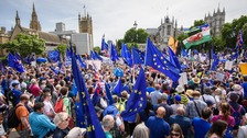 100,000 march through London to demand People's Vote referendum on Brexit terms