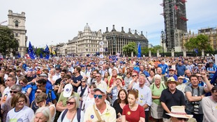 High profile remainers addressed the crowd.