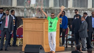 Mr Abiy told supporters at the rally that change was coming.