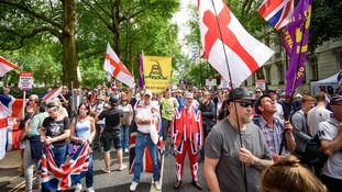 A pro-Brexit demonstration also took place in London on Saturday.