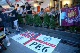 England fans in a bar in Nizhny Novgorod ahead of the match on Sunday against Panama