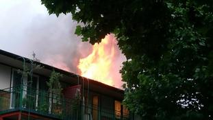 The fire at a block of flats in Dartmouth Park Hill in Archway