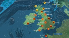 Weather: A sunny day with light winds