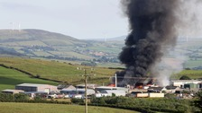 Fire breaks out at warehouse in Londonderry