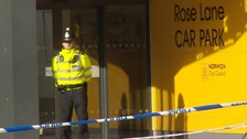 Murder probe continues as car park remains sealed off