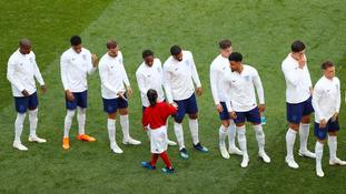 Alysia got to shake hands with the England team before kick-off