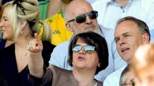 DUP leader Arlene Foster attends Ulster GAA final